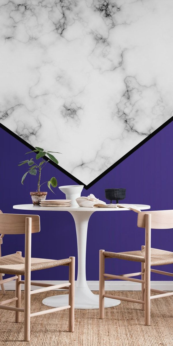 Violet Modern Abstract Wall Mural In 2020 Wall Murals Marble Wall Wallpaper