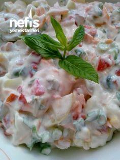 Köz Biberli Yoğurtlu Patates Salatası