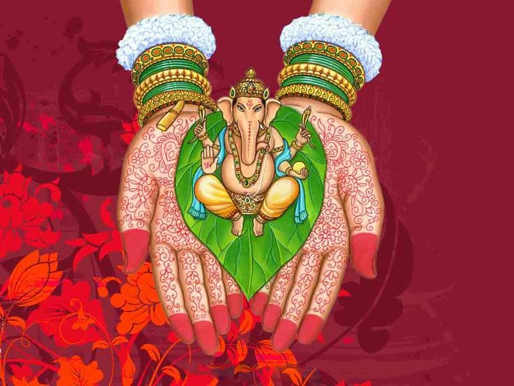 Ganesha Manos Hena