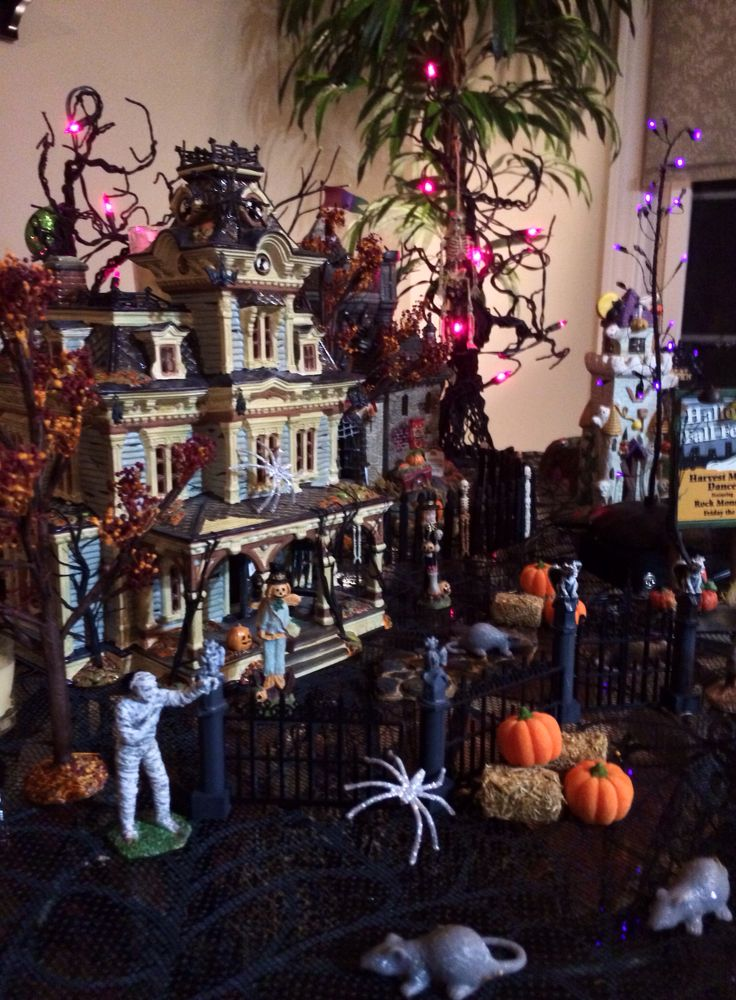 spooky village halloween lights
