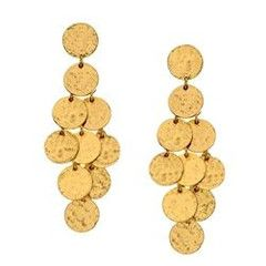 "These Stephanie Kantis Shimmer earrings highlight the qualities of the woman who wears them—refined, lovely, and luminous. You'll love how the bright yellow gold captures the light, perfect for giving your complexion a subtle glow. ◾24-karat yellow gold-plated earrings. ◾Approximately 1 1/2""H x 1/2""W. ◾Post backs."