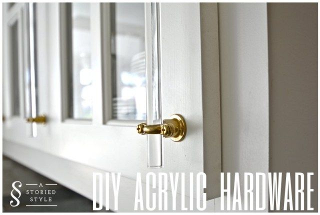DIY Acrylic Hardware For Kitchens + Baths & More