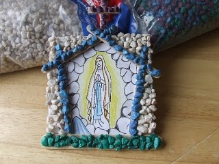 Our Lady of Lourdes grotto craft