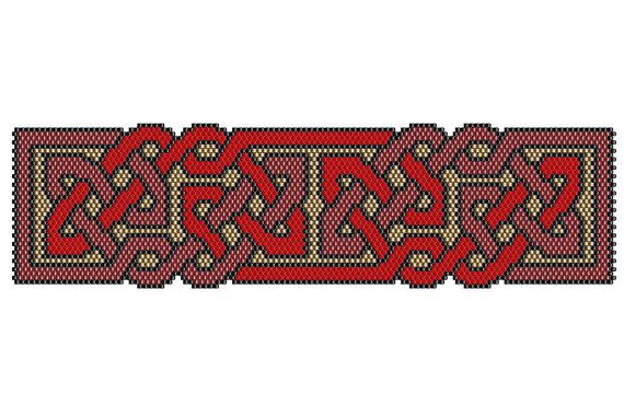 I have always liked the Celtic symbolism of the interconnectedness of life and eternity.  Here is one of my freeform peyote stitch patterns of Celtic knotwork. The finished work (using 15/0 Delica beads) measures 1.8 x 7.34 & can be used as a bracelet, necklace, or extended for a belt or strap.  ►This is a digital PATTERN in PDF format only - NOT a finished product. The file will be directly downloadable through Etsy.  The PDF file includes: • a computer generated illustration of the...