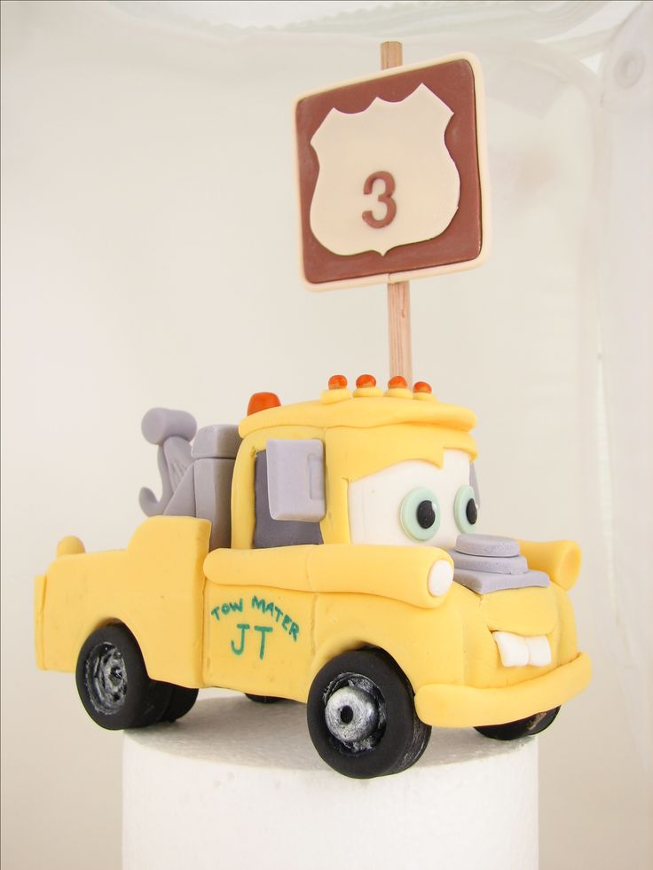 For a little boy who wanted a yellow Mater truck.
