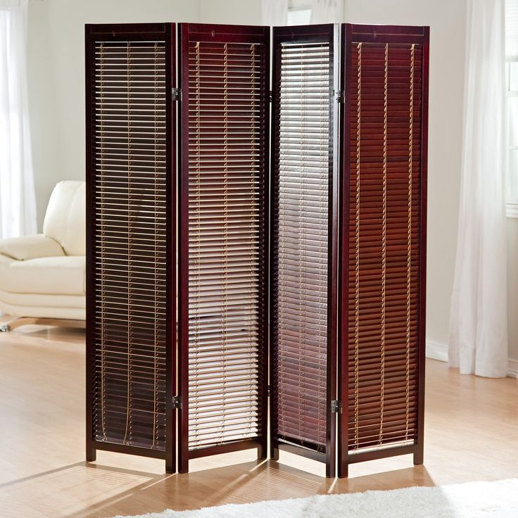 Tranquility Wooden Shutter Screen Room Divider In Rosewood 139 98