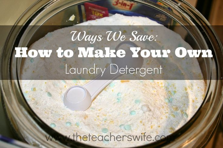 HOW TO MAKE YOUR OWN LAUNDRY DETERGENT.  I used to be so intimidated by all those bloggers who made their own laundry detergent, until I tried it for myself.  It's so easy and helps us save a lot of money.  Give it a try for yourself!