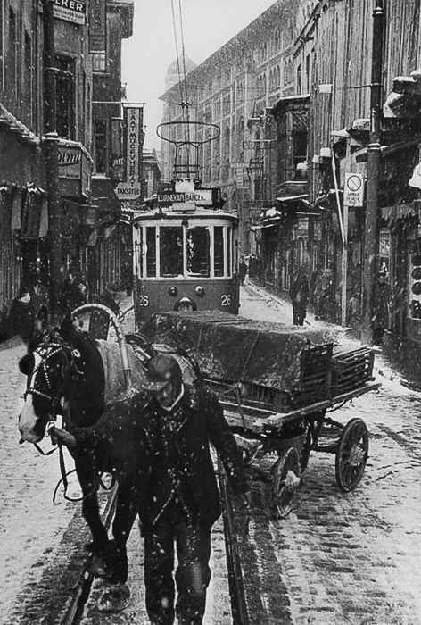 """ARA GÜLER From """"Istanbul"""". I would love the opportunity to be able take pics like these. It shows you automated machines moving people and a horse moving freight and a lone walker with the wagon...very cool!"""