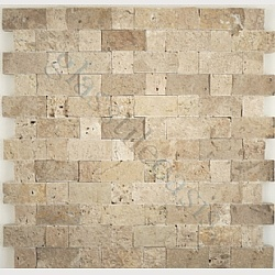 backsplash kitchen: Brick Backsplash, Tumbling Stones, Decor Ideas, Brick Series, Stones Backsplash With Granite, Granite And Backsplash Ideas, Random Brick, Bands Split, Cecilia Granite