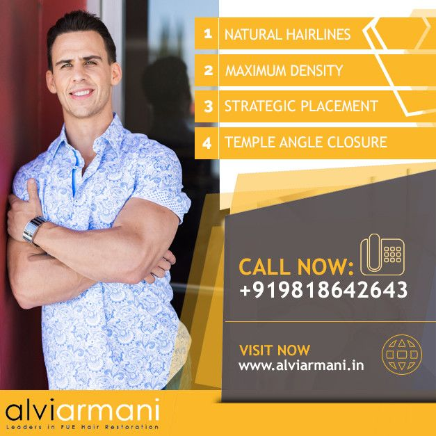 Alvi Armani is the world leader in latest FUE hair transplant technology with state of the art surgical centre located in capital of each country. AlviArmani works with the best FUE surgeon in any country with latest technology developed by AlviArmani USA. www.sta.cr/2RvE1