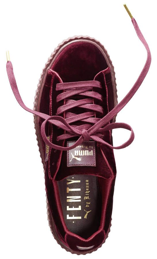 528133256ba36 Creepers bordeaux Fenty Rihanna by Puma