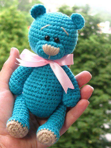 медвежонок тэдди схема вязания мк