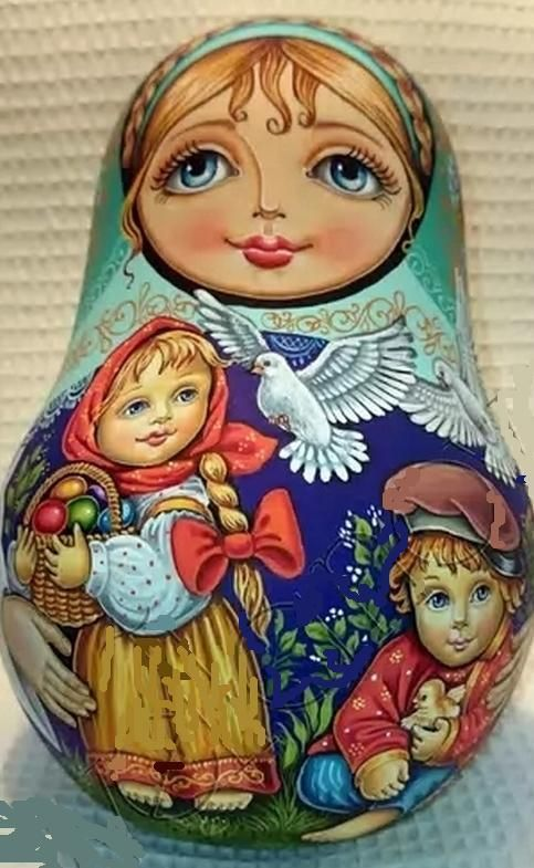 Russian matryoshka-tumbler Easter handmade exclusive