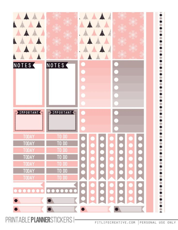 Free Almost Christmas Planner Stickers | Fit Life Creative                                                                                                                                                                                 More