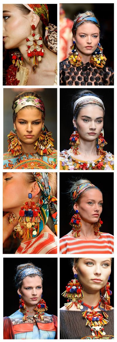 Dolce&Gabbana S/S2013. Auskarai