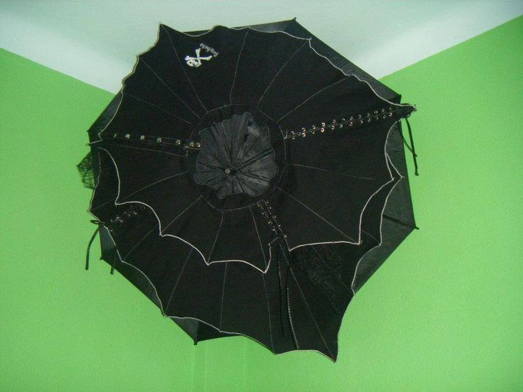 Falda convertida en un paraguas