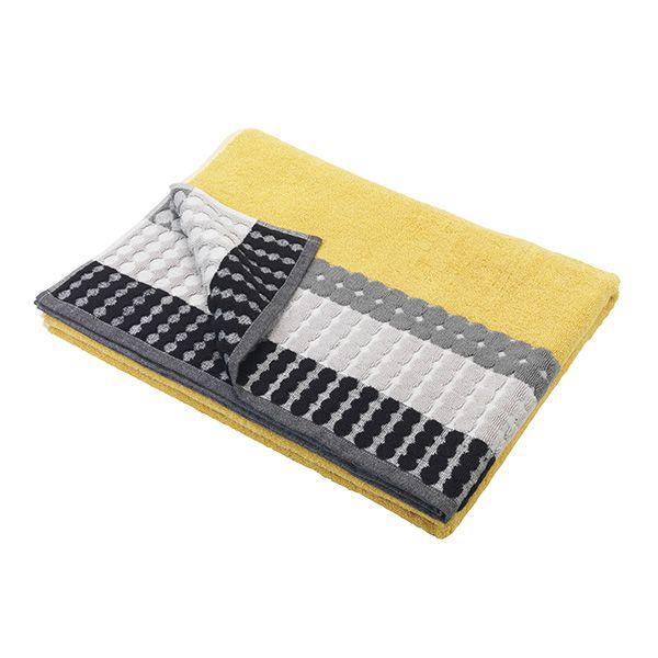 Image For Sainsbury S Home Grey Mustard Circles Border Towels From Sainsbury S Sainsburys Home Bath Sheets Sainsburys