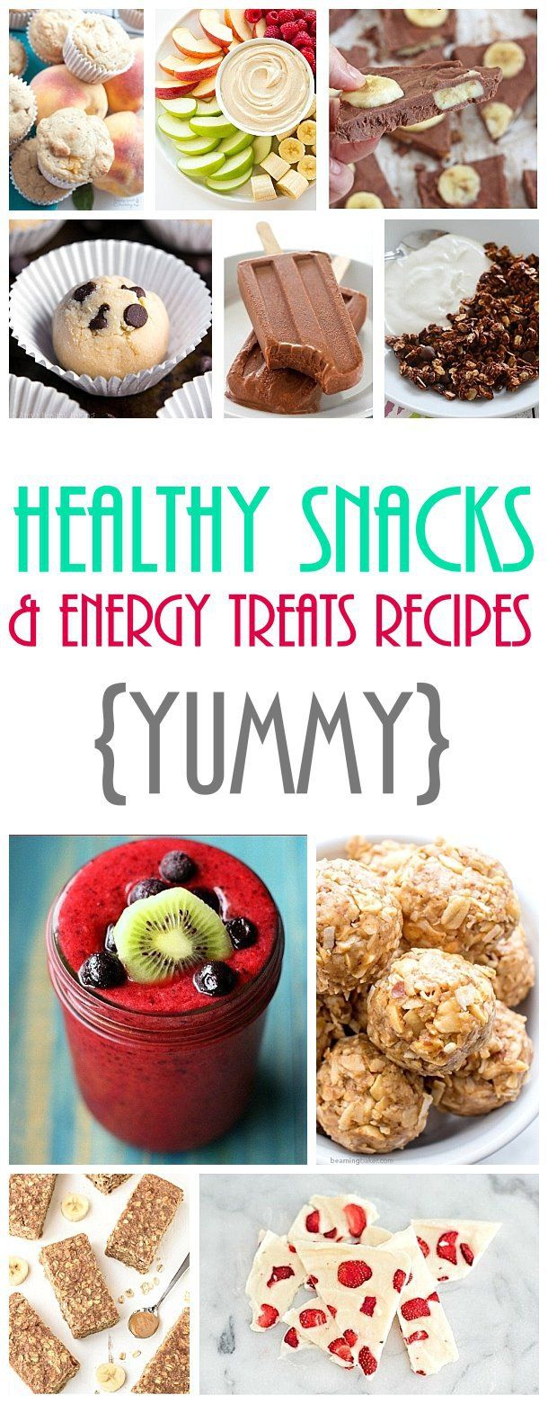 Healthy Snacks and Energy Treats Recipes - The Best Easy and Yummiest Recipes around!