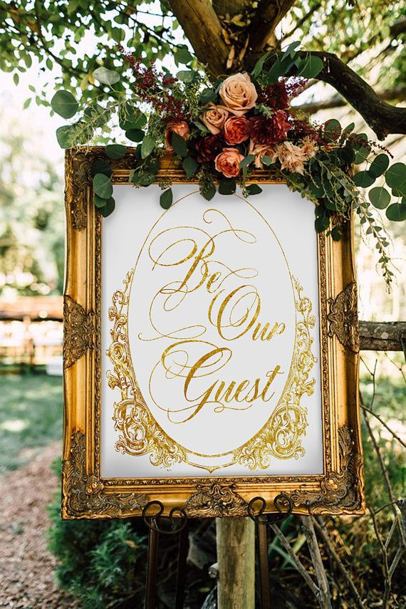 disney wedding reception sign be our guest wedding welcome