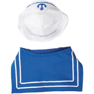 Ethical Fashion Pet Sailor Costume with Hat Elastic Blue Neckpiece X-Small/Small