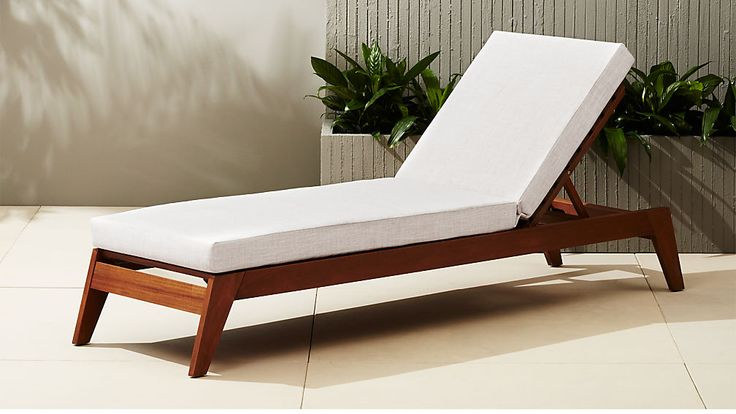 Filaki Lounger With Natural Cushion Lounge Chair Outdoor