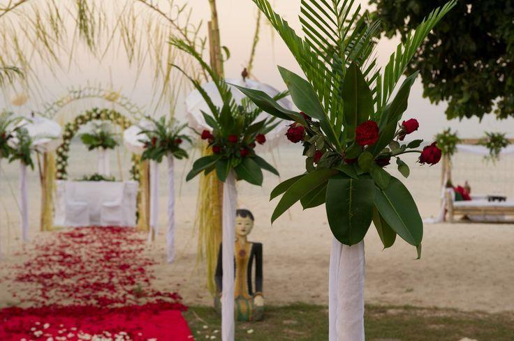 Wedding decoration at Tugu Hotel Lombok, Sire Beach.