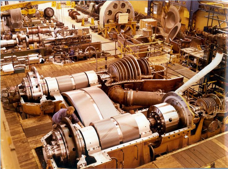 Steam turbines for a ship