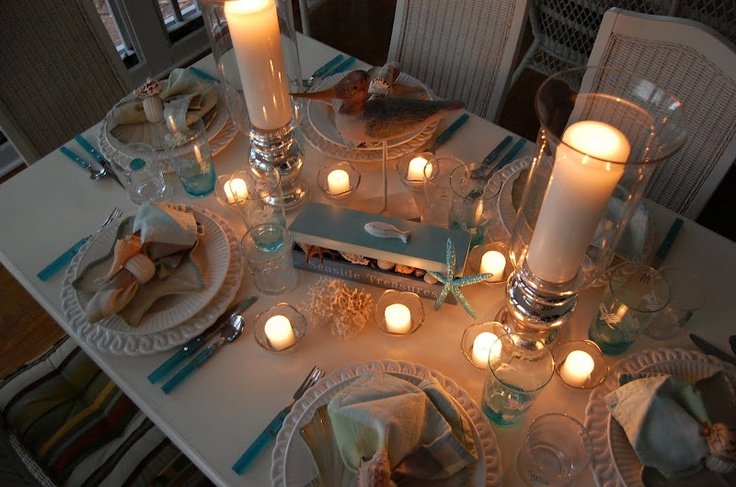 Seaside Theme Party- Tablescape