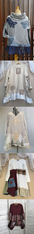 Мой стиль - БОХО! Шьём, вяжем, вышиваем, творим.Идеи превращения обычных пуловеров в бохо-пуловер