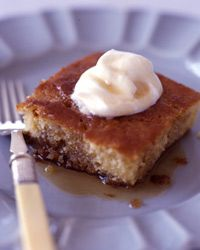 Maple-Buttermilk Pudding Cake: This sweet and gooey pudding cake with crisp candied edges, a Maine favorite borrowed from neighboring Quebec, is known as pouding aux chômeurs—the unemployed guy's pudding. Hayward doesn't know how this dessert got its name, but the lavish use of maple syrup (a Maine staple) probably helped make it popular.