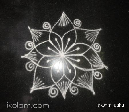 Rangoli Beginner kolam free hand | www.iKolam.com