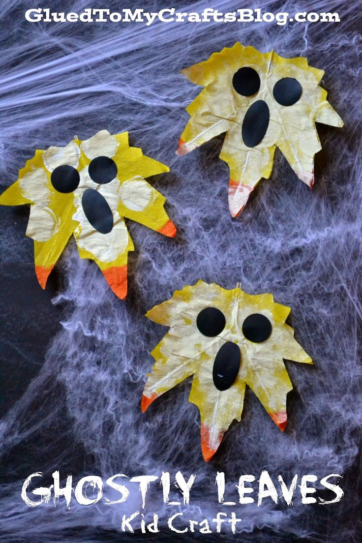 Ghostly Leaves {Kid Craft}