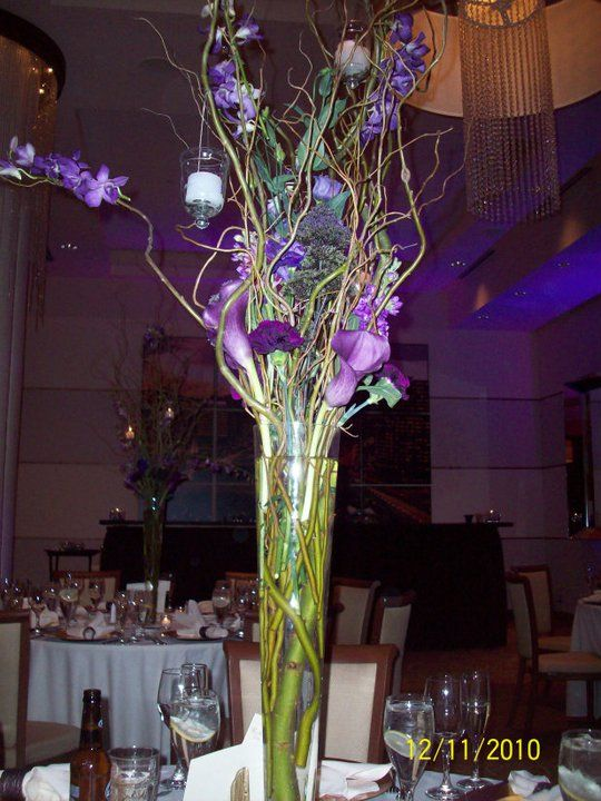 Tall Purple centerpiece!!!