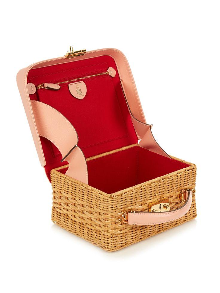 Grace leather and rattan box bag | Mark Cross | MATCHESFASHION.COM US