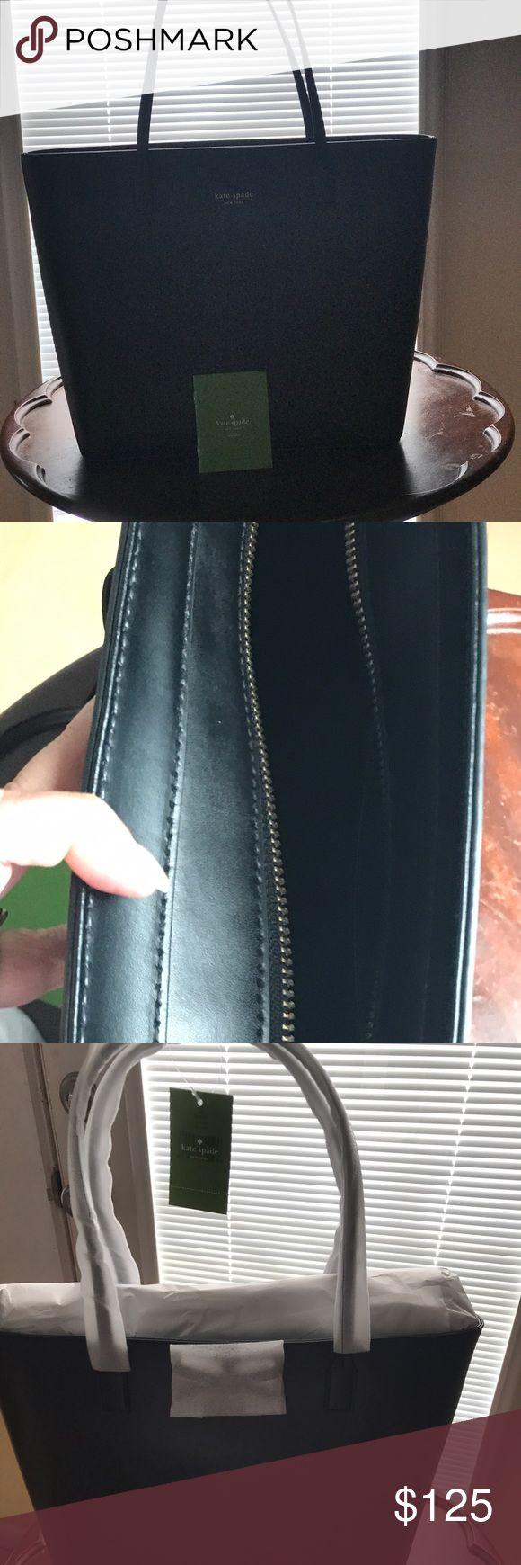 KATE SPADE SAWYER STREET TORI, BLACK Beautiful black leather bag/tote in just the right size. Wrappings removed for photos. New never used! kate spade Bags Totes