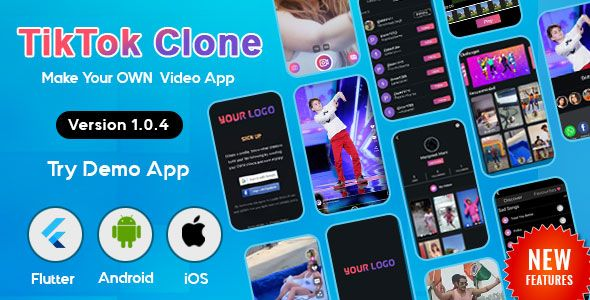 Flutter Tiktok Triller Clone Short Video Streaming Mobile App For Android Ios Mobile App Video App Ios Features