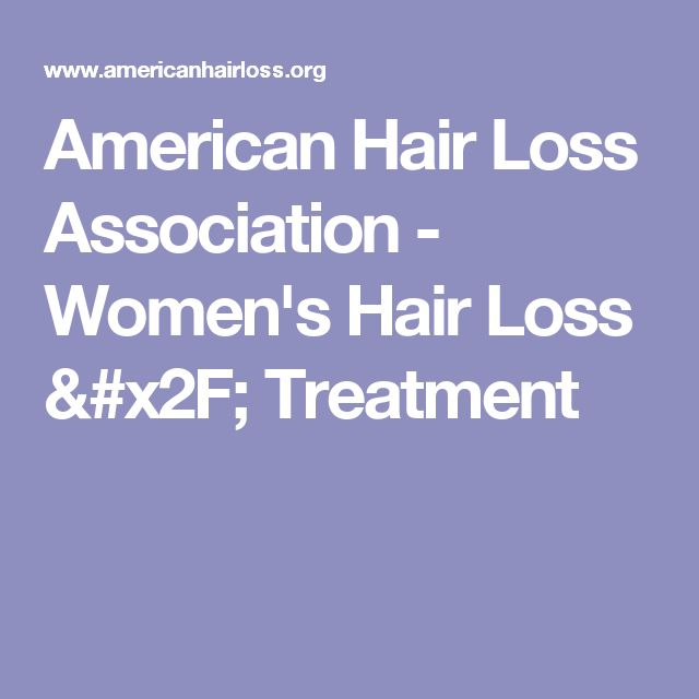 American Hair Loss Association - Women's Hair Loss / Treatment
