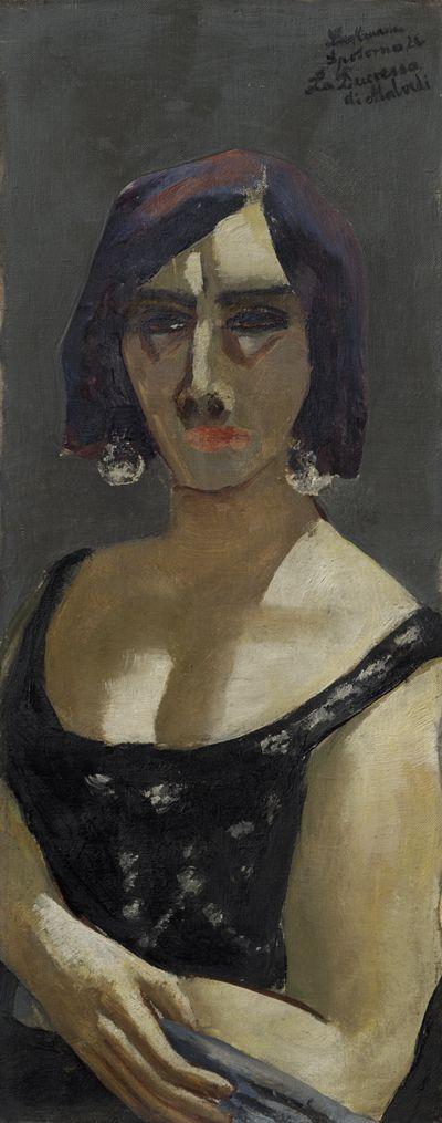 Max Beckmann, Duchessa di Malvedi, La Duccessa di Malvedi, 1926, 66,40 cm x 27 cm