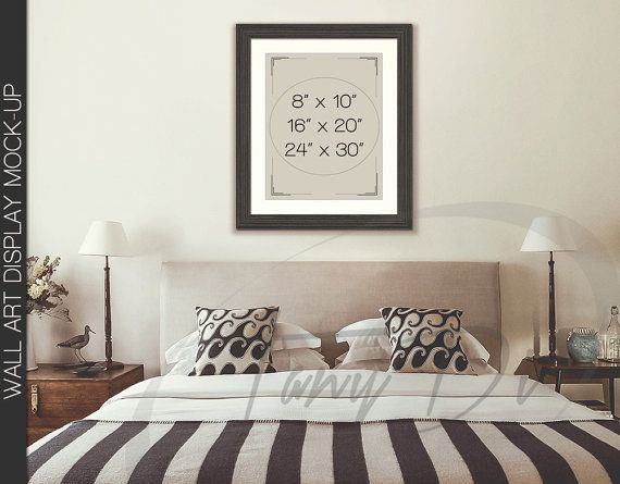 Bedroom styled interior 2 dark wood frame mockup 8x10 for 8x10 bedroom ideas