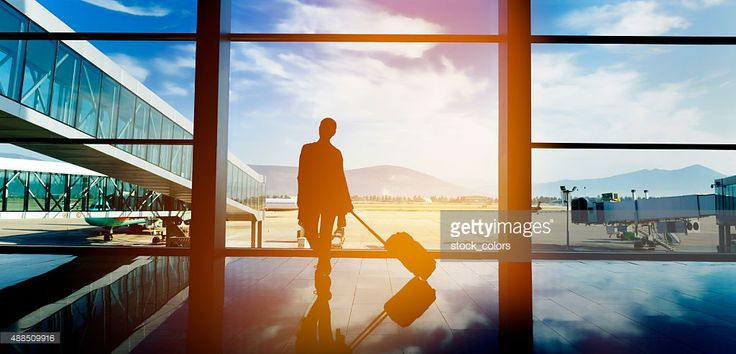 Stock Photo : traveling with airplane