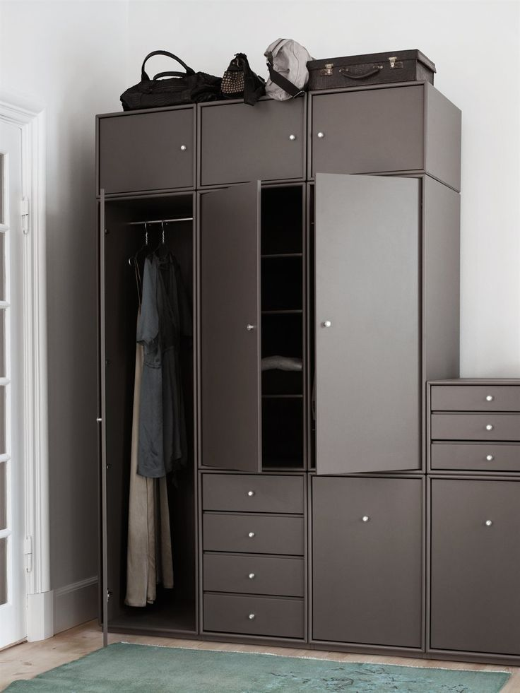 Montana Wardrobe in the colour Coffee. Montana Wardrobe is a flexible storage…