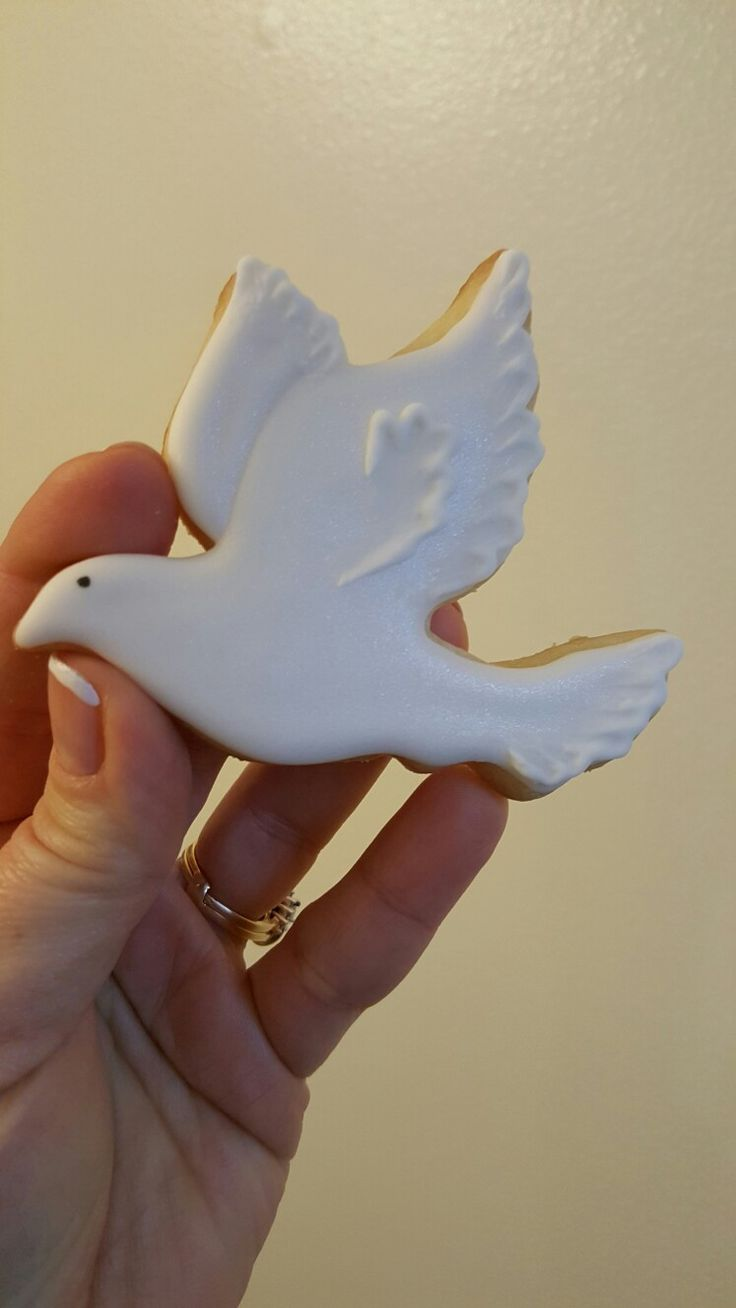 Dove baptism cookies by VR