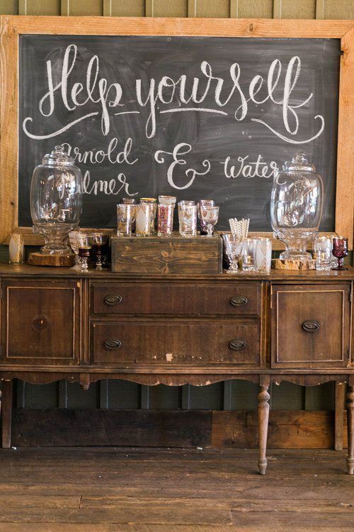 Beverage Station for Wedding or Party
