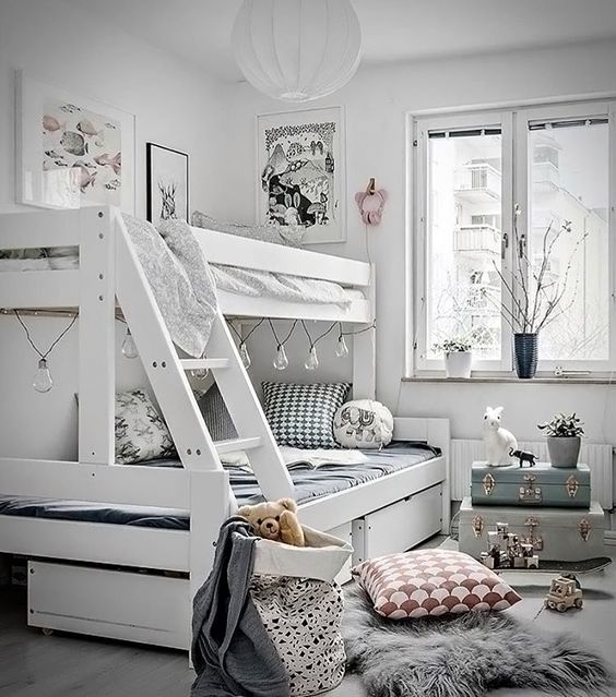 Love this shared kid's room inspiration ♡