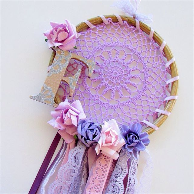Personalised Custom Lace Dream Catcher , you can choose the initial &…