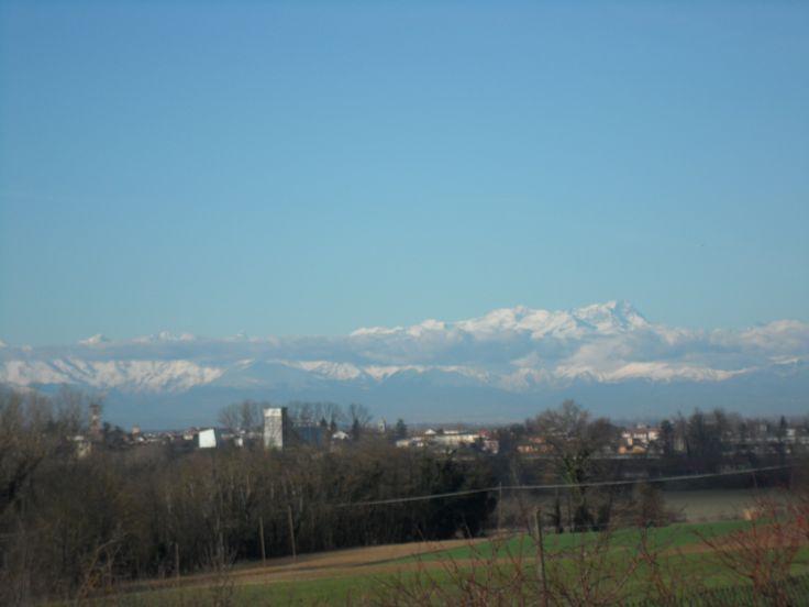 le alpi viste dal monferrato