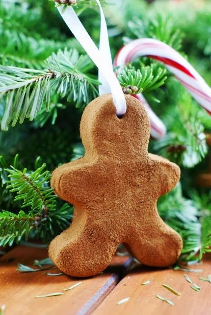 Easy 3-Ingredient (applesauce, cinnamon and elmers glue) Ornaments.  Maybe do a star instead.