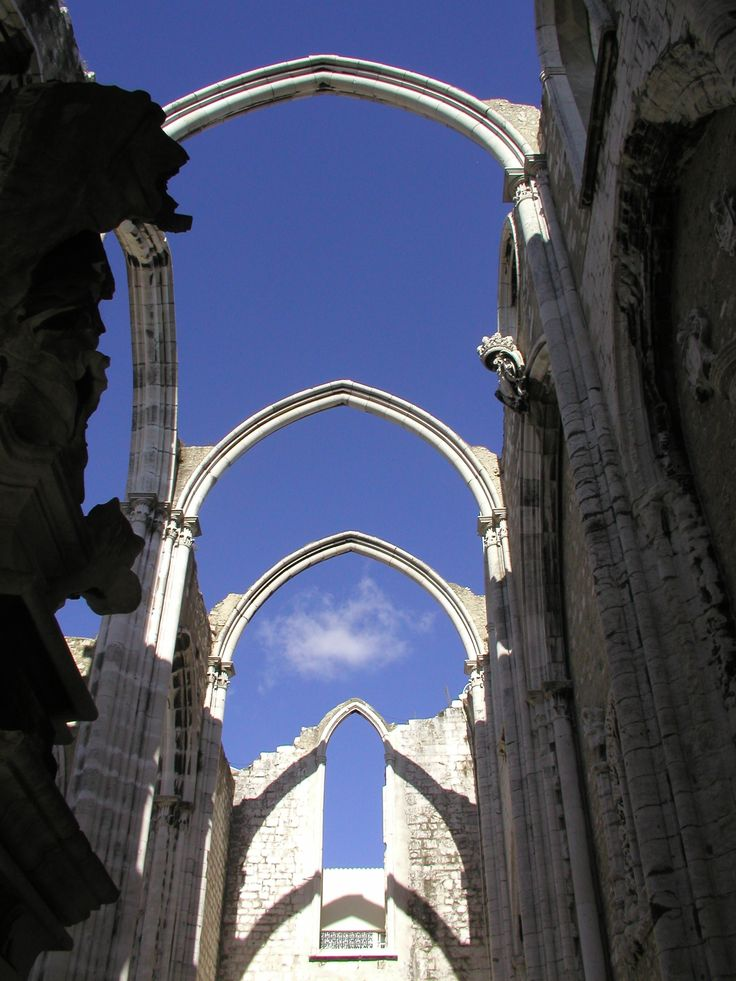Convento do Carmo in Lisbon (remains after earthquake in 1755)