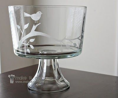 EvaBabeDesigns: Glass Etching Projects (made easy with the Cricut Expression)