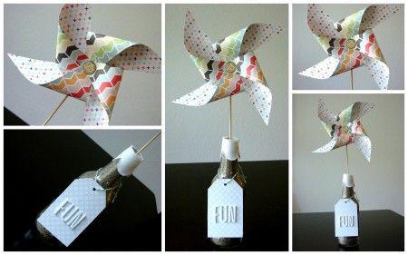 Table top Pinwheel Decor by @Jen Davis: Crafts Ideas, Tops Pinwheels, Pinwheels Tabletop, Tables Tops, Daisies Kits, Pinwheels Decor, Only Davis, Cocoa Daisies, Pinwheels Templates